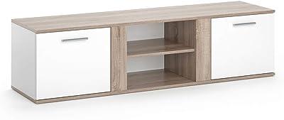 Vicco Tv Lowboard Novelli Sideboard Weiss Fernsehschrank Fernsehtisch Erhaltlich In 3 Dekoren Weiss Sonoma Amazon De Kuche Haushalt