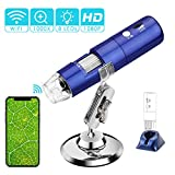 ROTEK Wifi Digital Microscope, WiFi USB Microscope Camera 2MP 1080P HD 1000x Handheld Wireless Microscope Kids...