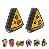 Tennis Feel Healthy Pack • Fast Food antivibrazione • Ammortizzatore per Racchetta da Tennis • Birra - Hamburgers - Donuts • Confezione da 2 (Pizza)