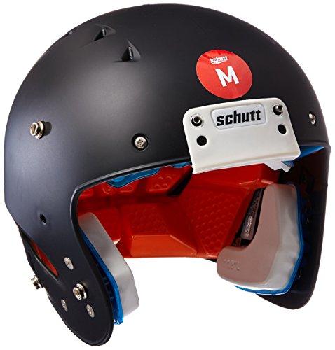 Schutt Sports 798004 Youth Recruit Hybrid Football Helmet (Faceguard Not Included), Black Matte Clear, XX-Small