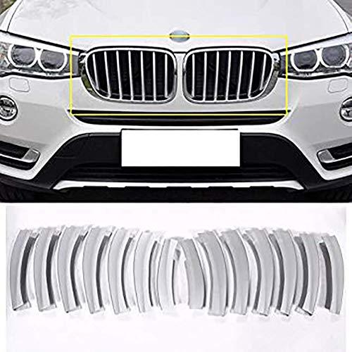 WYZXR Cubierta para parrilla delantera de coche, con lentejuelas, compatible con X3 F25 ABS cromado accesorios exteriores