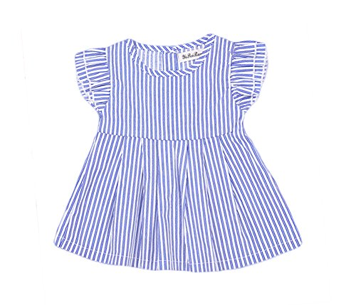 Newborn Baby Girls Summer Striped Princess Playwear Party Dress Outfit Clothes (6-12 months)