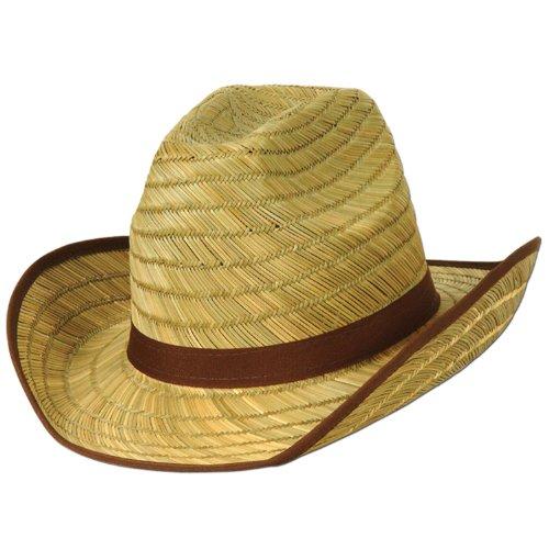 A Beistle Creation 50168 Echter Cowboyhut mit braunem Rand und Band, Nicht zutreffend