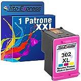 Tito-Express PlatinumSerie Set 1 Patrone für HP-302XL Deskjet 1110 2130 3630 3631 3632 3633 3634 3636 3637 | Color 21ml XXL-Inhalt