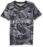 adidas boys Action Camo T-shirt T Shirt, Black, 8-15 Years US