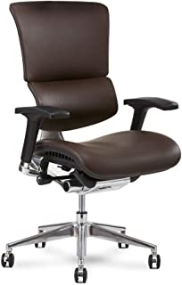 X Chair X4 Leather Executive Chair, Brown Leather