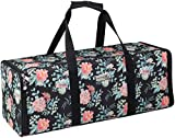 Everything Mary Collapsible Die-Cut Machine Carrying Case, Floral Print - Craft Sticker Bag Compatible with Cricut Air/Maker & Brother ScanNCut - Cutting Storage for Vinyl, Tools, Accessories