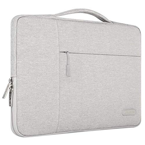 MOSISO Laptop Aktentasche Kompatibel mit 13-13,3 Zoll MacBook Air, MacBook Pro, Notebook Computer, Polyester Multifunktion Sleeve Hülle, Grau