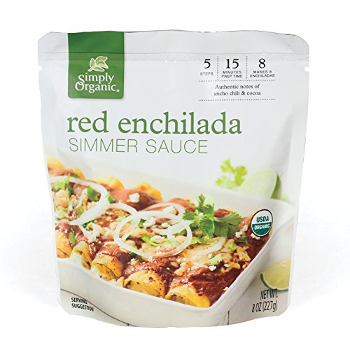 Simply Organic Simmer Sauce, Red Enchilada, 6 Count (Pack of 6)