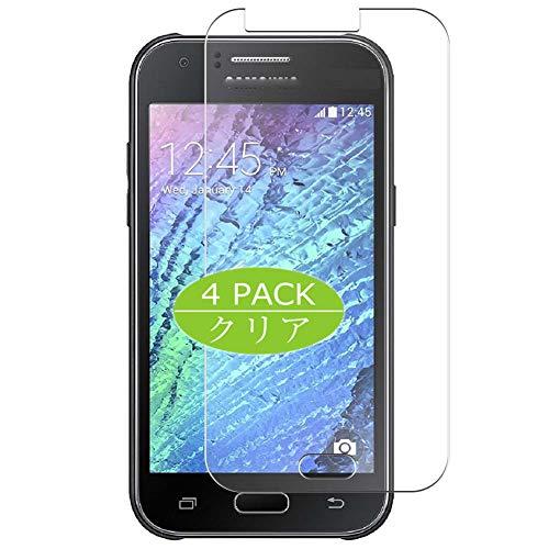 VacFun 4 Piezas HD Claro Protector de Pantalla Compatible con Samsung Galaxy J1 Ace / J1 J110 / F/H/FM, Screen Protector Sin Burbujas Película Protectora (Not Cristal Templado) New Version