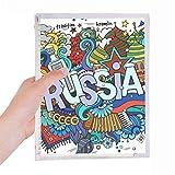 Rússia Winter Acordeon Casino Ilustração Caderno de Folhas Soltas Diário Recarregável Diário Papelaria