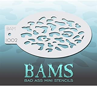 Bad Ass Leopard Mini Stencil BAM1002
