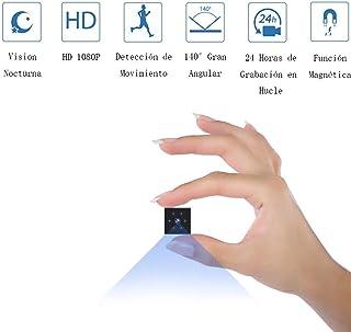 Camaras Espias Ocultas Mini Camaras Espias 1080P HD Cámara Vigilancia Portátil Secreta Compacta con Detector de Movimiento IR Visión Nocturna Camaras de Seguridad Pequeña Interior/Exterior