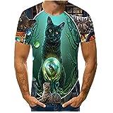Camiseta Hombre Verano Cuello Redondo Estampado Animales 3D Moda Camiseta Hombre Estilo Urbano Único Moderno Tops Hombre Casual Fiesta Cosplay Camiseta Hombre