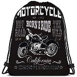 Dingjiakemao Bolsa De Gimnasio Motociclismo California Motociclistas Motociclistas Usan Yoga Runner Daypack Bolsas para Zapatos