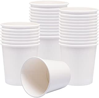 Benail Paper Soup Cups, Paper Hot/Cold Ice Cream Cups - 100 Count (White) (16 oz)