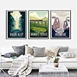 LIANGX Cuadro en lienzo decorativo de Hogwarts Express Hogsmeade retro, arte de pared vintage, paisaje de viaje, arte de pared, decoración para el hogar, oficina, sin marco (3 x 40 x 60 cm)