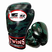 Twins ボクシンググローブ PUレザー ミリタリー Dark Green 10オンス