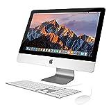 Apple iMac 21.5' All-in-One Desktop: Intel Core i5 QC, 8GB, 1TB HD, Mac OSX 10.8 Mountain Lion, Intel Iris Pro graphics, Wired Keyboard & Mouse, WiFi+BT Camera (Aluminum) (Renewed)