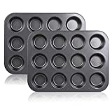 Premium Craftsmanship: Made of high carbon steel with nonstick coating for more evenly on heating, quick release and easy cleanup.BPA free 12-Cavity Design: Customize your baking for all kinds of individual brownies, muffin cake , mini pound cakes an...