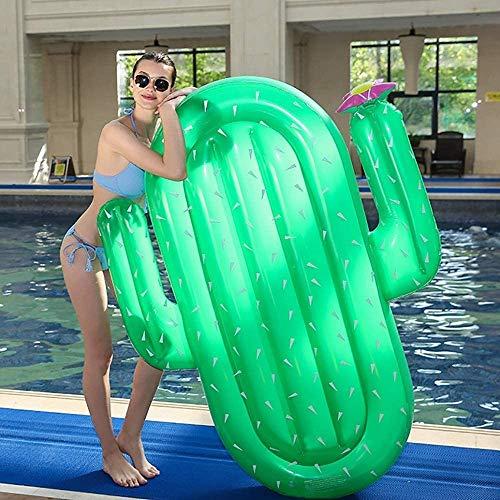 Zenghh Jumbo Aufblasbarer Kaktus Pop Lounger Air Mat Lilo Startseite Wasser Hammock Pool Schlauchbooten Leichter Schwimm Stuhl kompakt und tragbar Pool Mat for Erwachsene und Kinder Bearing 180kg