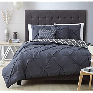 Avondale Manor 5-Piece Madrid Comforter Set, Queen, Charcoal