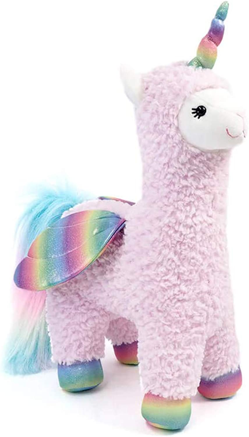 GUND Rainbow Sparkles Llamacorn with Wings Plush Stuffed Toy, 15.5