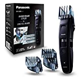 Panasonic ER-GB86-K503 Tondeuse Barbe Longue, 3 sabots, 58 longueurs de coupe de 0.5 à 30mm, Précision de 0.5mm, Etanche, Noire
