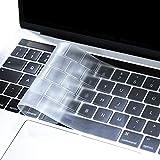 MOSISO Premium Ultra Slim TPU Protection Clavier Compatible avec MacBook Pro 13/15 Pouces Touch Bar 2019 2018 2017 2016 Version, A2159/A1989/A1706/A1990/A1707 Peau Transparent, Clair