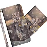 COTDINFOR LG K40 Case Wallet Cool Animal 3D Effect Painted