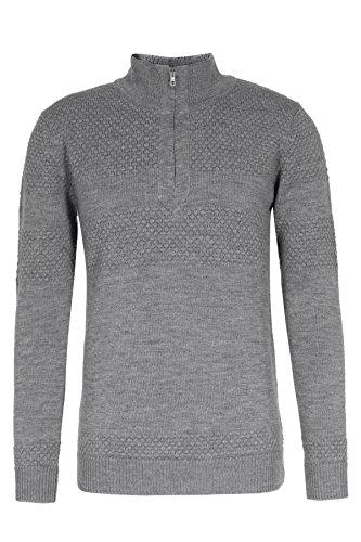HELDMANN Merinowoll-Pullover mit Reißverschluss M, Grau