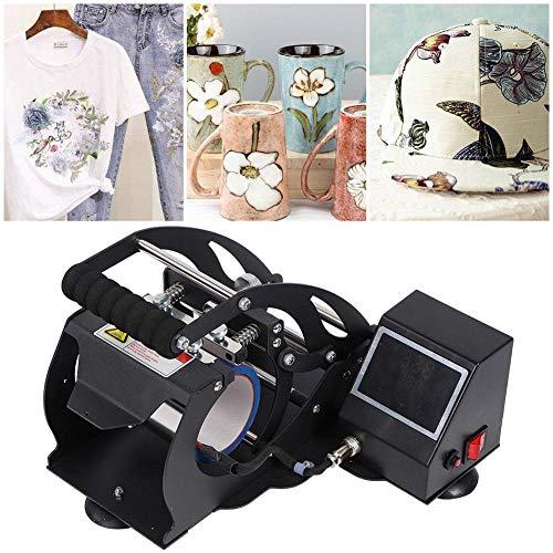 Máquina de prensa de calor, pantalla táctil LED Pantalla digital Camiseta Máquina de prensa de calor Taza Máquina de transferencia de sublimación multifunción(Enchufe de la UE 220V)