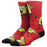 Bioworld Merchandising / Independent Sales Spongebob All Over Print Athletic Crew Socks Standard