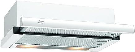 Teka TL 6310 Telescópica o extraplana Blanco 332m³/h E - Campana (332 m³/h, Canalizado/Recirculación, F, g, D, 56 dB)