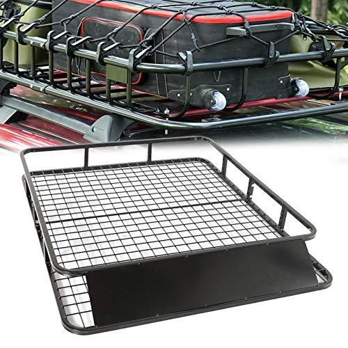 Xpork Car Roof Frame Foldable Large Cargo Luggage Carrier Universal Metal Roof Racks Mesh Basket Tray Black