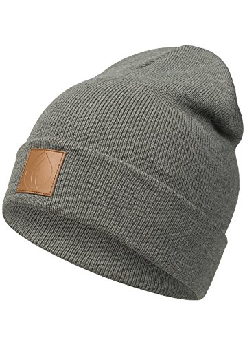 Occulto Leatherpatch Winter Mütze Beanie (Charcoal)