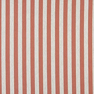 Designer Fabrics K0009C 54 in. Wide Persimmon And Off White44; Striped44; Designer Quality Upholstery Fabric