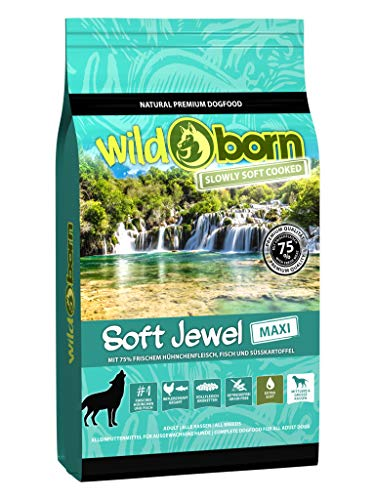 Wildborn Soft Jewel Maxi 12kg getreidefreies Hundefutter mit 75% frischem Hühnchen & Fisch