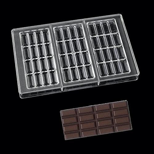 Molde de pastel Molde de chocolate rectángulo de la esmalta de la eslaba transparente policarbonato plástico molde de plástico pastel de pastelería para hornear herramienta de chocolate molde Molde de