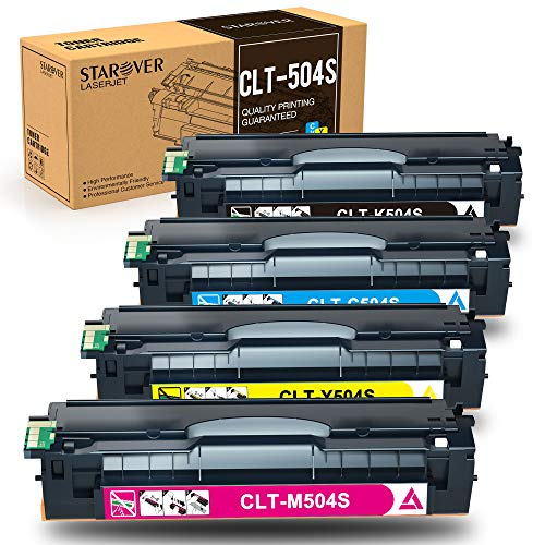 STAROVER CLT-P504C CLT-504S Kompatibel Samsung Tonerkartusche, CLT-K504S C504S M504S Y504S, Replacement für Samsung Xpress SL-C1810W C1860FW Samsung CLP-415NW 470 475 CLX-4170 4190 4195FN 4195FW