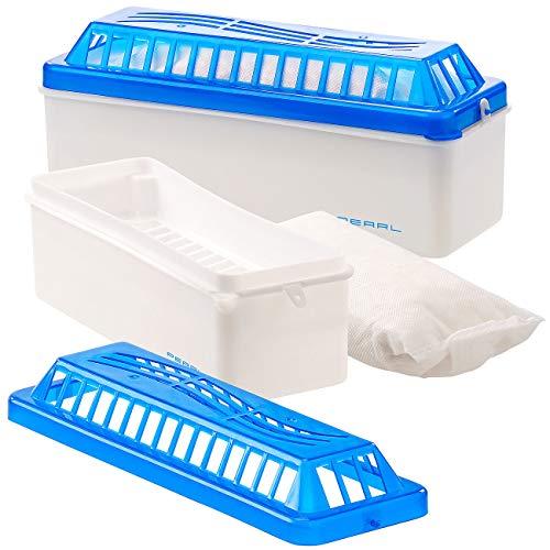 Sichler Haushaltsgeräte Raumentfeuchter Box: 2er-Set Raumentfeuchter mit 500 g Granulat, bis 1.100 ml, bis 35 m² (Luftentfeuchter Granulat Box)