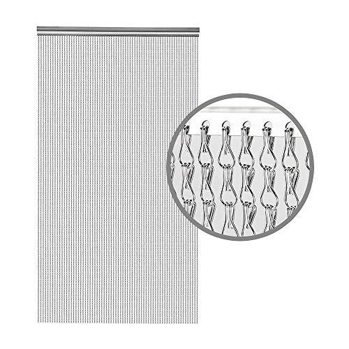 BriSunshine Kettenvorhang türvorhang 90x210 Aluminium fliegenvorhang terrassentür Fliegen-Schirm Insekt-Schirm