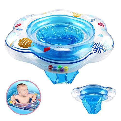 Vercrown Bambino Anello di Nuoto, Gonfiabile Bambino Piscina Galleggiante Seduta Barca Sicurezza PVC Infantile Formazione per età 6 -36 Mesi Gluk Bambini 52cm - Blu