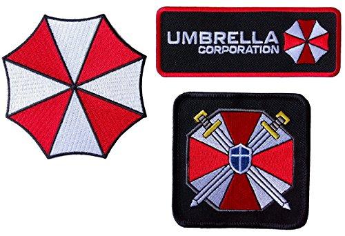 Resident Evil Umbrella Corporation de ciencia ficcin Parches De Disfraz de cosplay juego de 3
