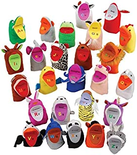 Cre8tive Minds ABC Animal Finger Puppets, Learning Tool for Kids, Set of 26
