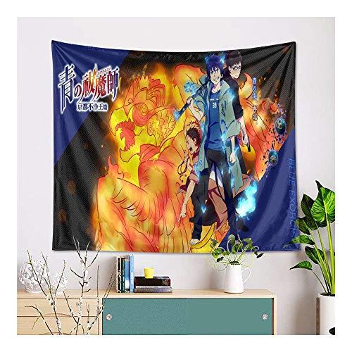 YuBAOsM A009 Blue Exorcist AO NO Exorcist Manga Anime Tapiz de patrón para Colgar en la Pared en Dormitorio, Sala de Estar o Dormitorio, Tela 150x100 cm / 60x40 Inch