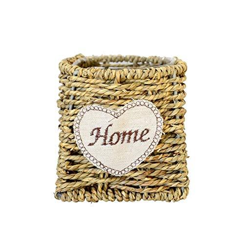 Jarrones modernos Cesta de la canasta de la carpeta de la flor de la paja, la cubierta de las macetas, los recipientes de macetas de las plantas, para la cesta de la maceta de la planta en interiores
