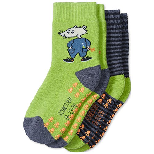 Schiesser Baby-Jungen 2pack Kids Socken, Mehrfarbig (Sortiert 1 901), 19-22 (Herstellergröße: 450) (2er Pack)