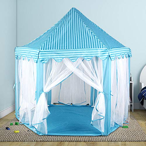 SDSA Intérieur Tulle Hexagon Game House Princess Castle Tent 140 * 135cm