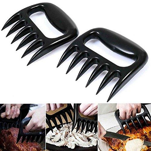 Da.Wa Grillfleisch Claws Bärenpranken Klaue Paws Grillfleisch Pulled Pork Beef Chicken Grill Shredder Grillfleisch mit Handler für BBQ (2er set)